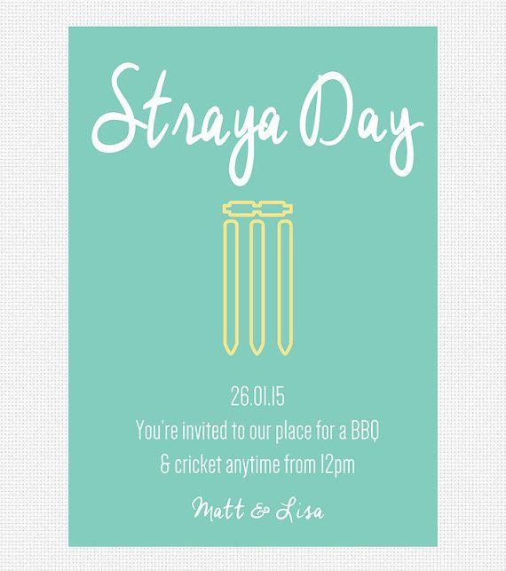 Australia Day Invitation Printable