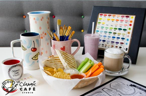 Up to 58% on a day of ceramic painting including drinks for 2 or 4 people at Céramic Café. Get this discount on tuango.ca.