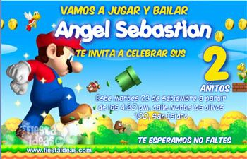 nes de cumpleaños de Super Mario Bros Gratis