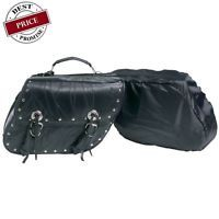 NEW HONDA SHADOW SABRE ACE 1100 750 LEATHER SADDLE BAGS 2PC