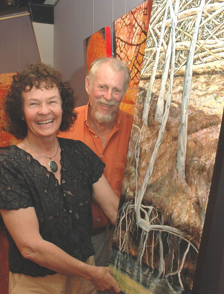 Helen Hume Artist  Helen and Roger in the photo