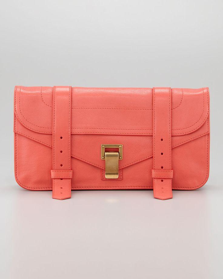 Leather Statement Clutch - damask pink by VIDA VIDA GUpv4SOM