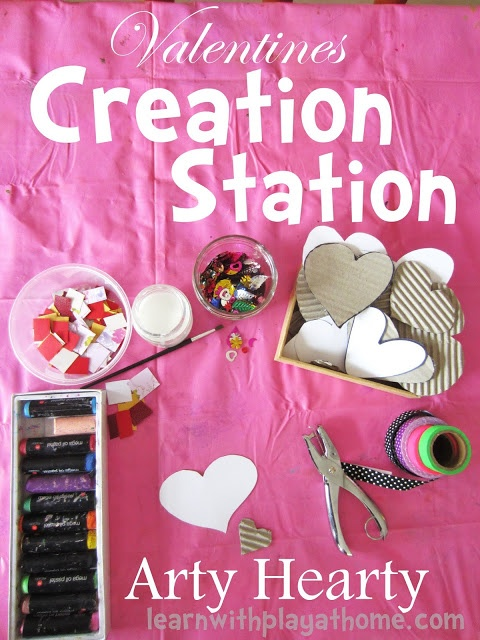 Valentines Creation Station. Arty Hearty