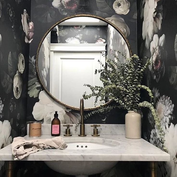 websta emilyschuman after this mornings instastory i received a ton of questions about our powder room wallpaper by so i figured id repost it here - Fantastisch Bing Steam Shower