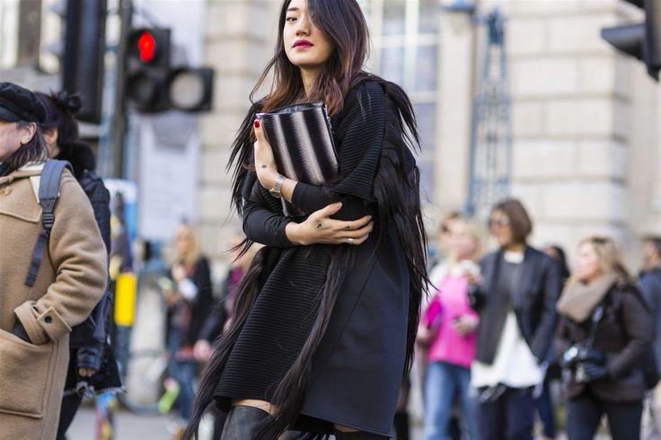 2014-2015 Sonbahar/Kış Londra Moda Haftası Sokak Stili