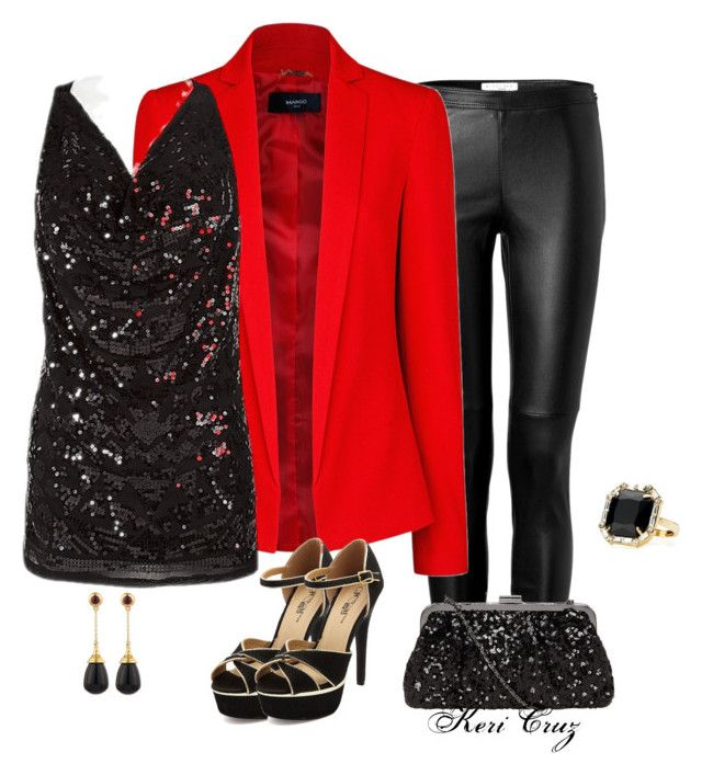 """""""Holiday Office Party"""" by keri-cruz ❤ liked on Polyvore featuring Burberry, MANGO, GUESS, Charlotte Russe, Dorothy Perkins, Syna and Juicy Couture"""