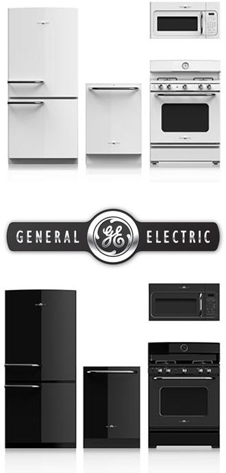 GE Artistry Series Appliances- I never thought I would like white appliances, but I'm kind of digging this retro look.