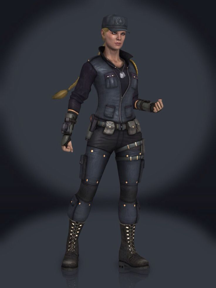 Mortal Kombat X Fan Art Sonya Blade Primary Outfit