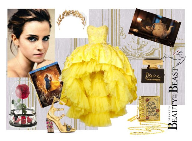 """Beauty in the world"" by ira-malakhova ❤ liked on Polyvore featuring Élitis, Emma Watson, Disney, Laurel Wreath Collection, Mikael D, Gucci, Dolce&Gabbana, BeautyandtheBeast and contestentry"