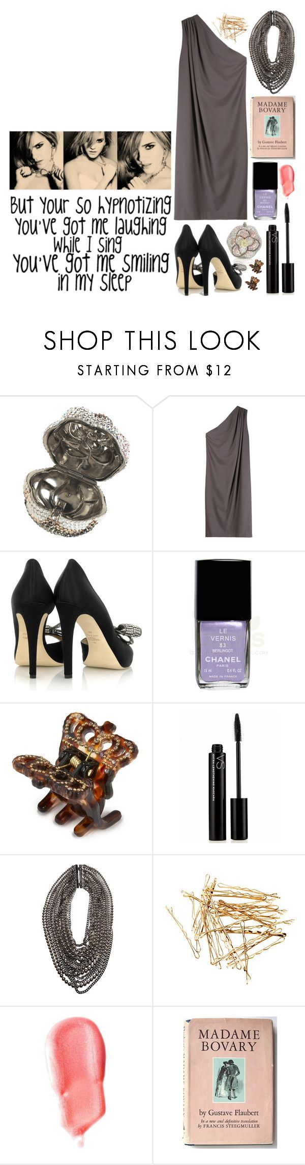 """""""101. catch me - demi lovato"""" by michellelyn ❤ liked on Polyvore featuring Emma Watson, Leiber, Halston, Valentino, Chanel, Juicy Couture, Victoria's Secret, Givenchy, H&M and Benefit"""