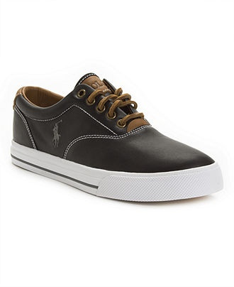 Polo Ralph Lauren Shoes, Vaughn Leather Sneakers - Mens Shoes - Macy's