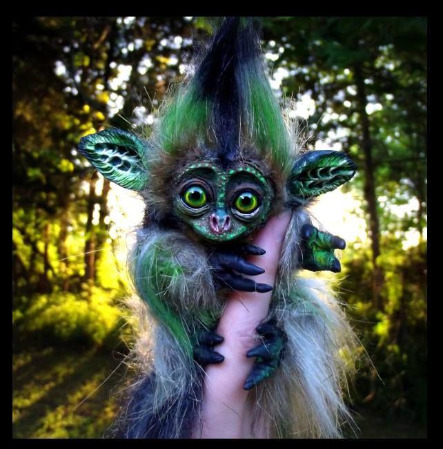 --SOLD--Poseable Hand Made Baby Cricket Monkey! by Wood-Splitter-Lee.deviantart.com on @deviantART