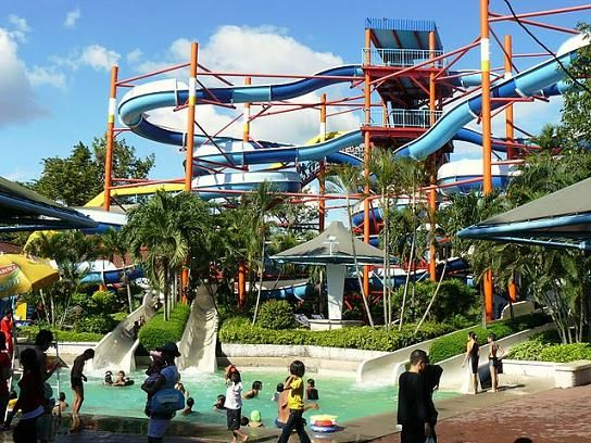 Water slide at the Siam Park City in Bangkok, Thailand