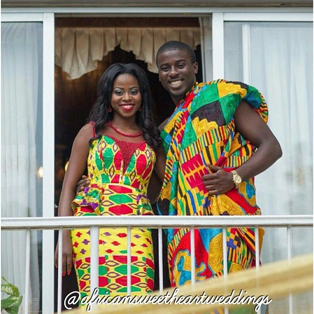 Beautiful Couple And Beautiful Kente Yaaass Slay Ghana Wedding