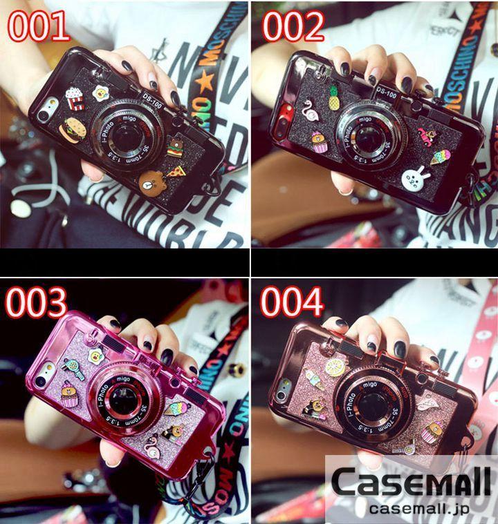 iPhone7 ケース カメラ型 ミラー付き