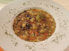 Bramborová polévka skrupkami