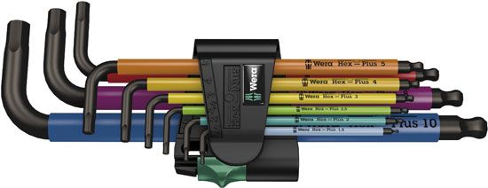 Wera Color Metric Hex Key Set