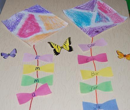 Spring Kite Craft & Bows Learning Games for Kids #preschool #kindergarten
