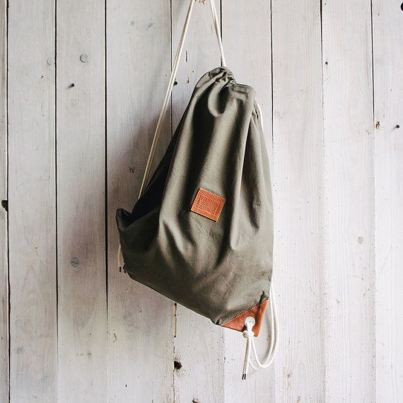 Drawstring Backpack The Dear Hunter by GoldzahnSupply on Etsy, €44.00