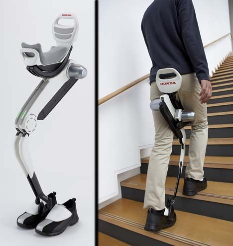 Walking Assist Device by Honda - This could help increase mobility for mild stroke victims and others with disabilities...