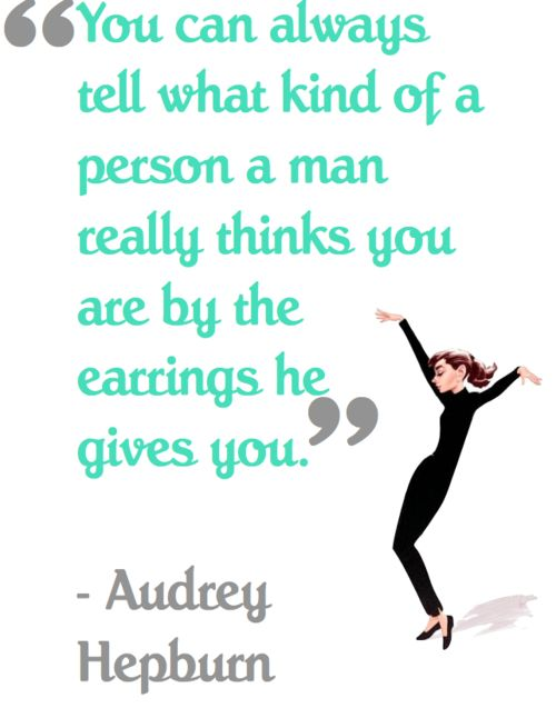 AudreyDiamonds Earrings, Breakfast At Tiffanys, Audrey Hepburn, Holly Golightly, Audreyhepburn, Funny Faces, Diamond Earrings, Mindfulness Reel, Jewelry Quotes