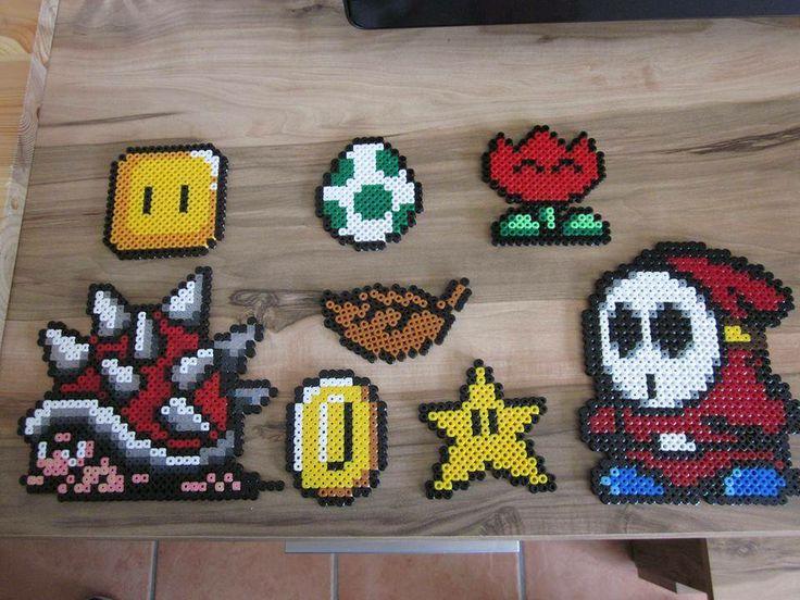Super Mario aus Bügelperlen - Hama perler beads