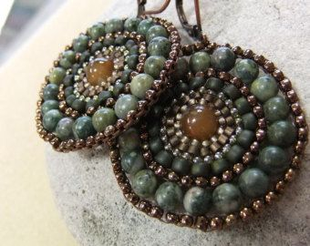 Items similar to Diamond Infinity - Shades of Black in Brick Stitch Earrings on Etsy
