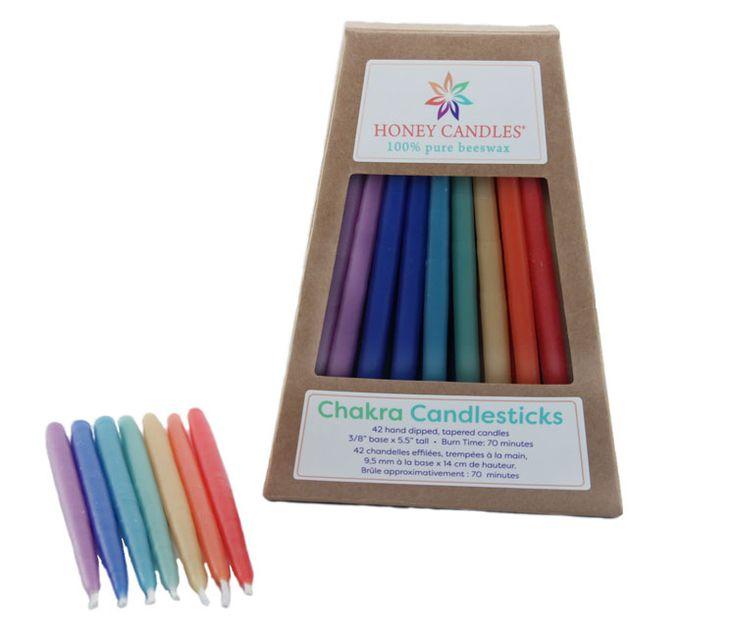 Beeswax Honey Candles® - Enlighten Chakra Candlesticks