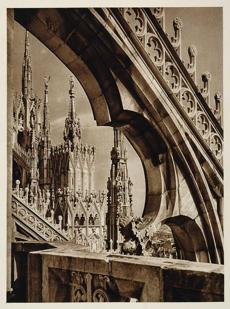 Cathedral in Milan, Italy, 1920s by Kurt Hielscher