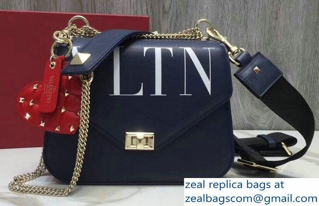 cd4c9ec7b Valentino VLTN Shoulder Strap Chain Saddle Bag Blue 2018   Luxury ...
