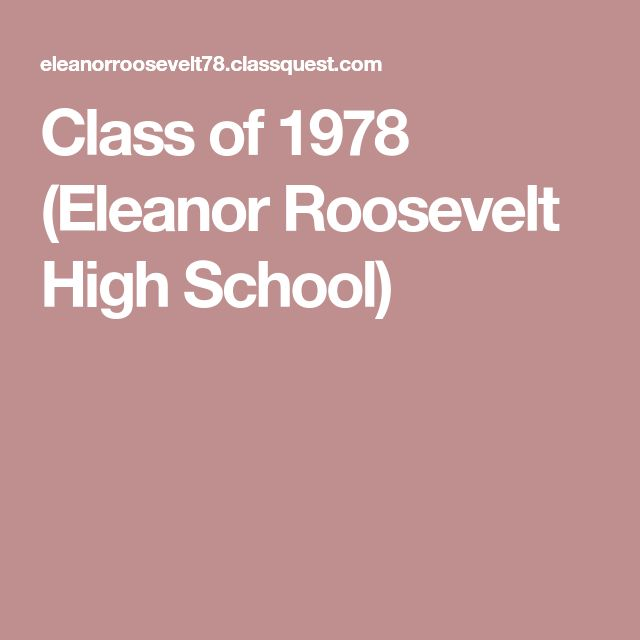 Class of 1978 (Eleanor Roosevelt High School)