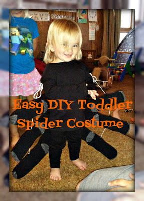 Mixed Bag Mama: Easy DIY Toddler Spider Costume