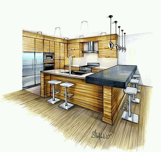 High ceilings croquis architecture design architectural drawings kitchens tall ceilings architecture drawings house design drawing architecture