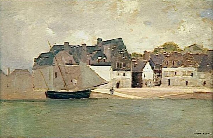 Odilon Redon - Port breton ( sans doute Saint-Goustan à Auray)
