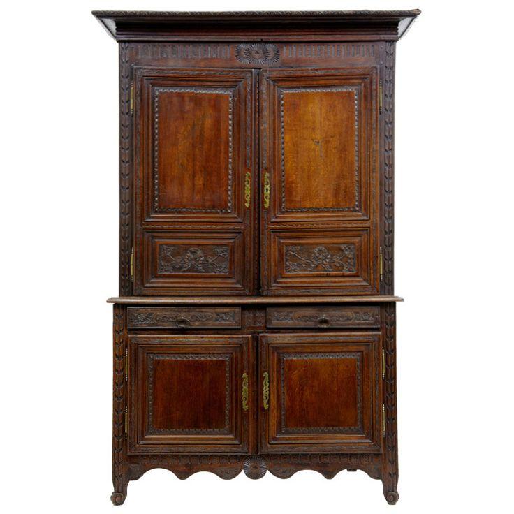 Early 19th Century Antique French Oak Cupboard Buffet De Corps - Best 25+ Oak Cupboard Ideas On Pinterest Oak Cabinets Redo