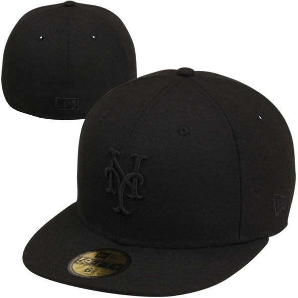 Men's New York Mets New Era Black Tonal 59FIFTY Fitted Hat, $34.99