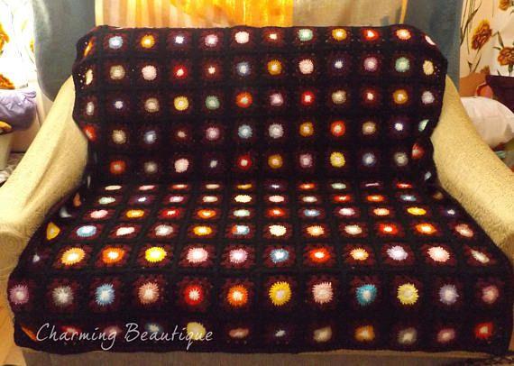 Crochet Afghan Crochet Blanket Crochet Granny Crochet Throw