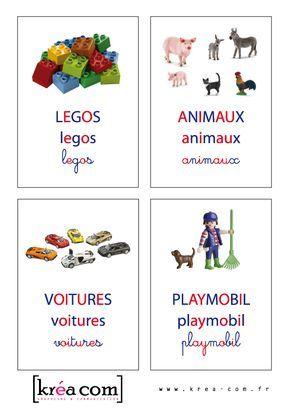 Etiquettes de boites à jouets (méthode Montessori) à télécharger gratuitement…