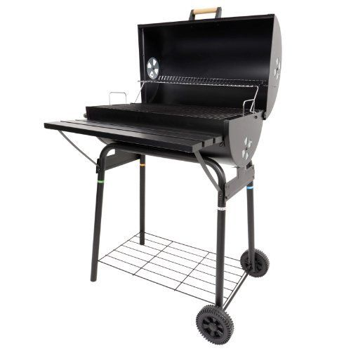 Ideal Charles Jacobs Large Charcoal Barrel BBQ with Mini Smoker And Accessories