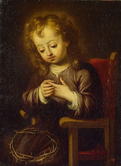 The Athenaeum - Infant Christ Pricked with the Crown of Thorns (Bartolomé Esteban Murillo - )