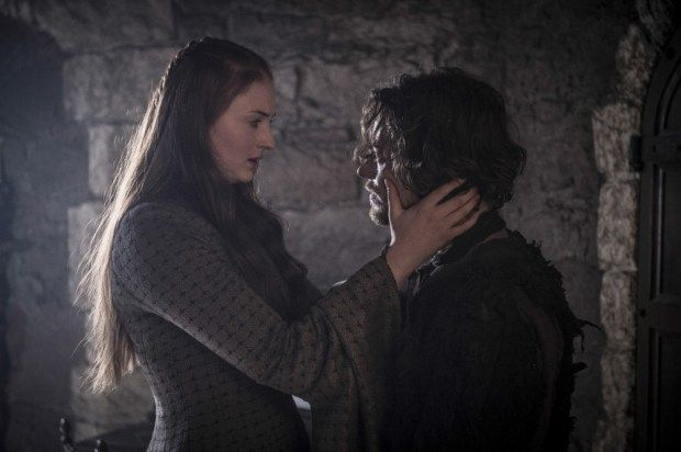 Sansa Stark and Theon Greyjoy season 5