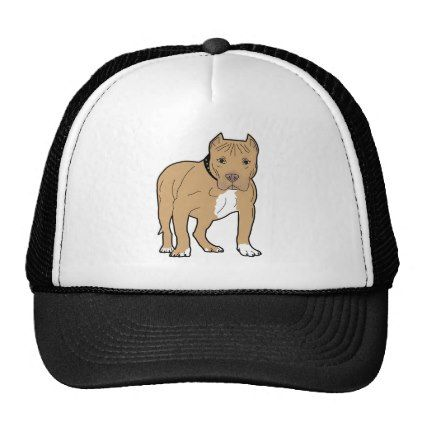 #Personalized American Pitbull Dog Trucker Hat - #pitbull #puppy #dog #dogs #pet #pets #cute #doggie