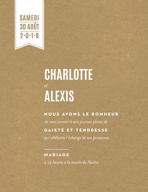 faire-part de mariage l'annonce - Atelier Rosemood - www.Rosemood.fr