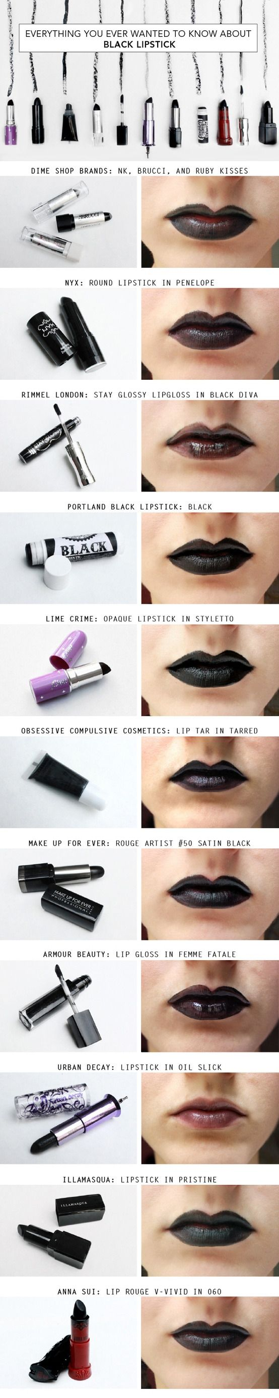 Black Lipstick: The Best Color You've Probably Never Tried! [I never looked good in black lipstick]