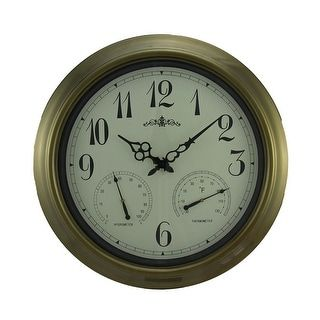 Shop for Time & Weather Round Indoor/Outdoor Wall Clock 18 inch. Free Shipping on orders over $45 at Overstock.com - Your Online Home Decor Outlet Store! Get 5% in rewards with Club O! - 23229531