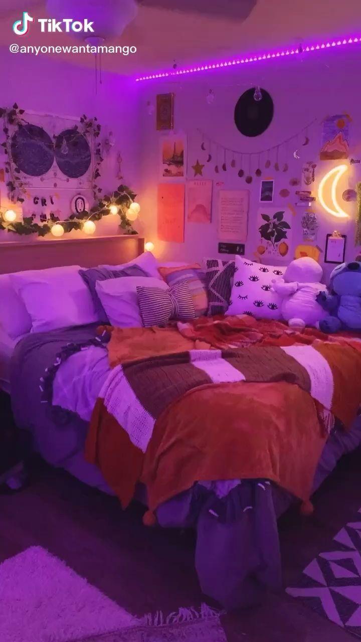 Decor Ideas Bedroom Decor Ideas Room Decor Ideas Diy Videos Bedrooms Room Inspiration Bedroom Bedroom Makeover Neon Room