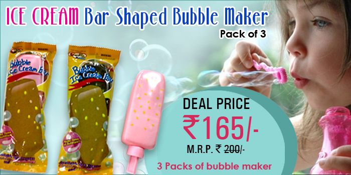 Ice Cream Bar Shaped Bubble Maker for Kids. Deal Price RS. 165.00/- Only. For Order visit now at www.hakkunamatatta.com or call us at +91-9873112550  Birthday return gifts for kids Hakkuna Matatta