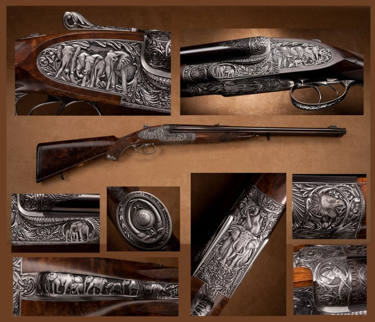 HOLLAND & HOLLAND .700 NITRO EXPRESS - This ultimate elephant gun is just one of the many exquisite double guns in the Robert E. Petersen Gallery of the National Firearms Museum, www.nramuseum.com... To be featured in the upcoming book, Treasures of the National Firearms Museum (2013) - Rgrips.com
