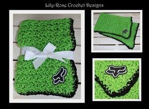 Green & Black Fox Racing Baby Blanket $60
