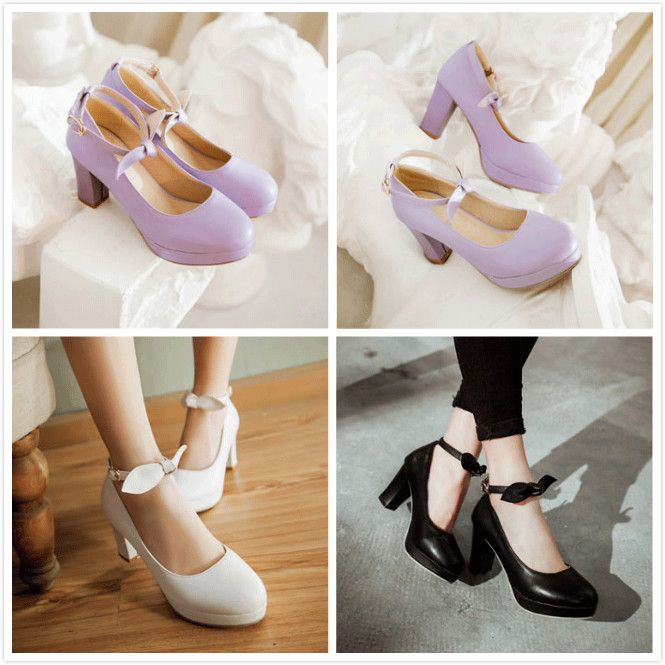 Thanks for the review photo @jeinirelova on instagram Material:PU Color:purple.white.black. With high:7.5cm. Waterproof Taiwan:1.5cm. Size here: eu33=215mm. eu34=220mm/ 4.5 is for Foot Length:22 cm/8.